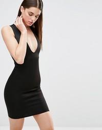 Облегающее платье с декольте Twin Sister - Черный