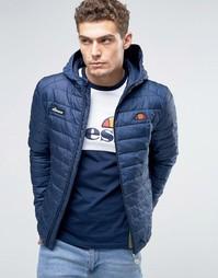 Дутая куртка с капюшоном Ellesse - Темно-синий
