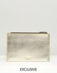 Эксклюзивная золотистая сумка на молнии Skinnydip - Золотой