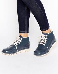 Кожаные ботинки Kickers - Темно-синий