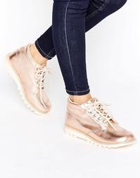 Кожаные ботинки Kickers - Медный