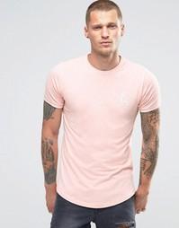 Облегающая футболка с логотипом Gym King - Розовый