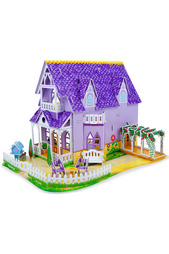 """Пазл""3D Пурпурный домик Melissa & Doug"