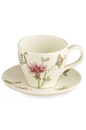 Чашка чайная с блюдцем 13 см Nuova cer
