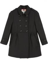 Двубортное шерстяное пальто Burberry