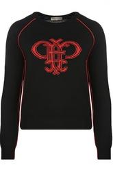Пуловер свободного кроя с круглым вырезом и ярким принтом Emilio Pucci