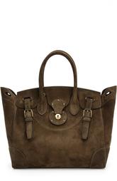 Замшевая сумка Soft Ricky 33 Ralph Lauren