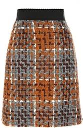 Буклированная мини-юбка с широким поясом Dolce & Gabbana