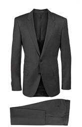 Приталенный костюм из фактурной шерсти HUGO BOSS Black Label