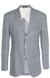 Льняной пиджак в клетку Prince of Wales Polo Ralph Lauren