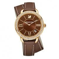 Наручные часы Aila Day Double Tour с кожаным ремешком Swarovski