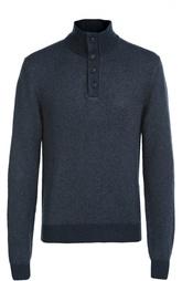 Шелковый свитер с воротником на пуговицах Polo Ralph Lauren