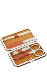 Светло-коричневый маникюрный набор из 4 предметов в кожаном чехле Truefitt&Hill Truefitt&Hill