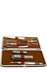 Светло-коричневый маникюрный набор из 7 предметов в кожаном чехле Truefitt&Hill Truefitt&Hill
