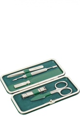 Зеленый маникюрный набор из 5 предметов в кожаном чехле Truefitt&Hill Truefitt&Hill