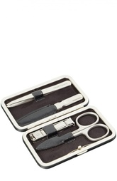 Черный маникюрный набор из 4 предметов в кожаном чехле Truefitt&Hill Truefitt&Hill