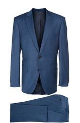 Шерстяной костюм с пиджаком на двух пуговицах HUGO BOSS Tailored