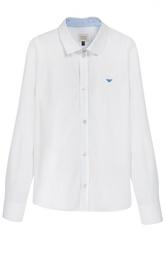 Хлопковая рубашка с воротником кент Giorgio Armani