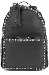 Кожаный рюкзак Rockstud Rolling с вышивкой на лямках Valentino