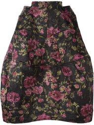 юбка с цветочным принтом  Comme Des Garçons