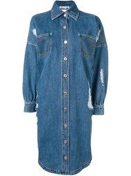 джинсовое платье-рубашка Moschino
