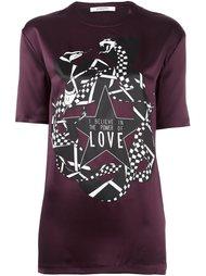 атласная футболка с принтом змей  Givenchy