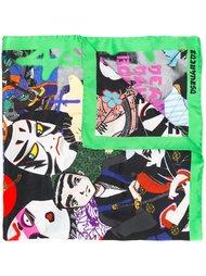 платок с принтом 'Manga' Dsquared2