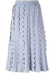 юбка А-образного силуэта с волнистой отделкой Vivetta