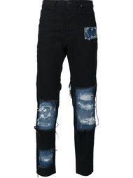 джинсы скинни с лоскутным дизайном и рваными деталями Vivienne Westwood Anglomania