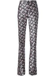 жаккардовые расклешенные брюки с цветочным узором Giambattista Valli