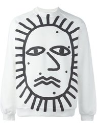 face print sweatshirt  Sunnei