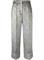 metallic tailored cropped trousers Racil