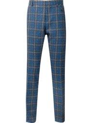 брюки кроя слим в клетку Vivienne Westwood
