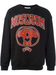 varsity logo print sweatshirt Moschino