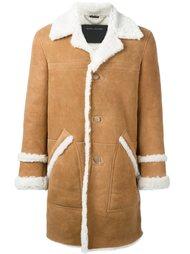 пальто с отделкой из овчины Marc Jacobs