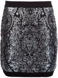 юбка мини с вышивкой Balmain