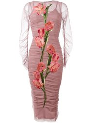 платье с нашивкой в виде тюльпана Dolce & Gabbana