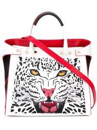 сумка-тоут с принтом леопарда  Giancarlo Petriglia