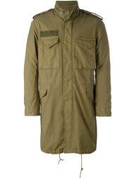 пальто в стиле милитари с накладными карманами R13