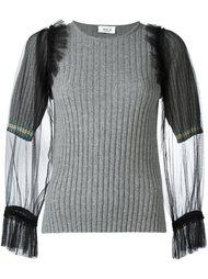 свитер с рукавами из тюля Aviù