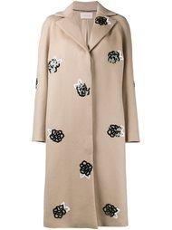 пальто с вышивкой из пайеток Christopher Kane