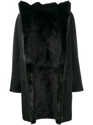 пальто с подкладкой из меха норки и овчины Yves Salomon