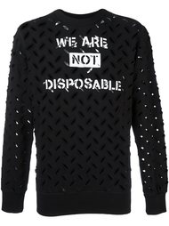 толстовка 'We are not disposable'  Vivienne Westwood Anglomania