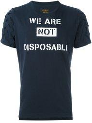 футболка с вырезами на рукавах Vivienne Westwood Anglomania