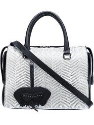 сумка-тоут с принтом шеврон Christian Siriano
