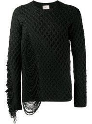 фактурный вязаный свитер  Mihara Yasuhiro