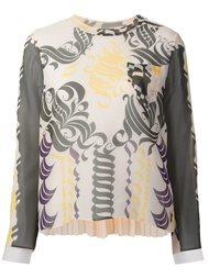 блузка с изящным рисунком  Sacai