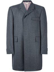 пальто в полоску  Thom Browne