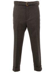 брюки со стрелками и поясом Wooster + Lardini