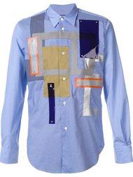 рубашка в стиле пэчворк Junya Watanabe Comme Des Garçons Man